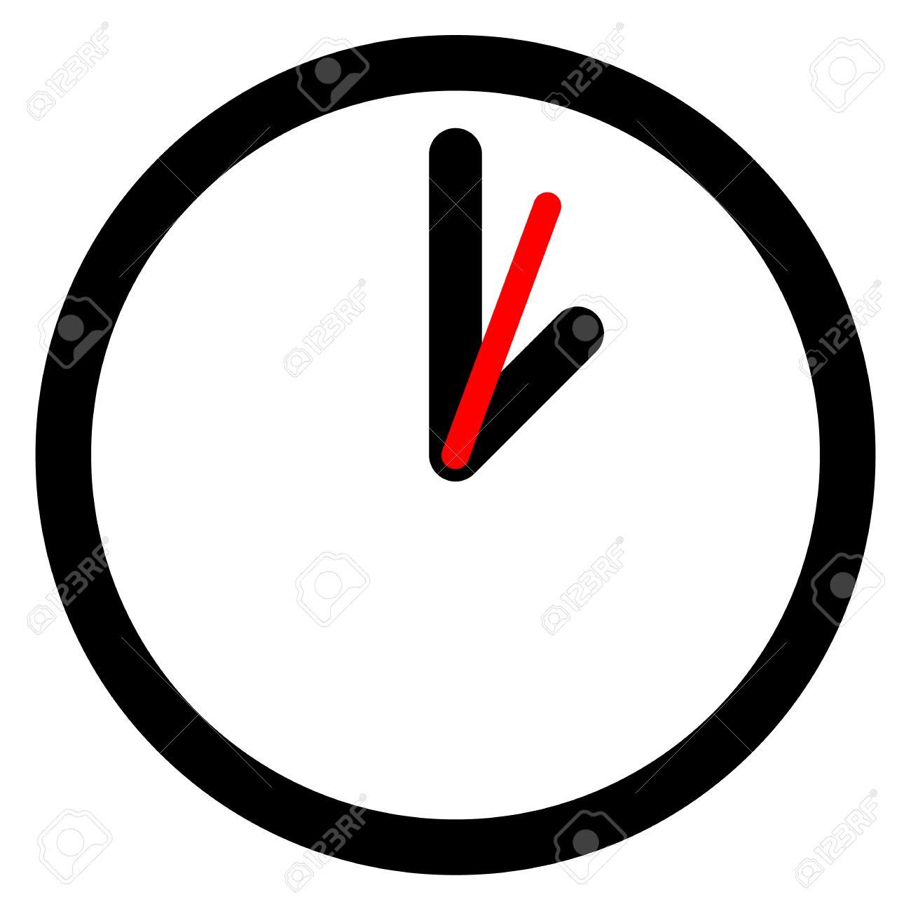 Pared De PlanaSímbolo En Reloj Blanco Del eEH9YWD2I