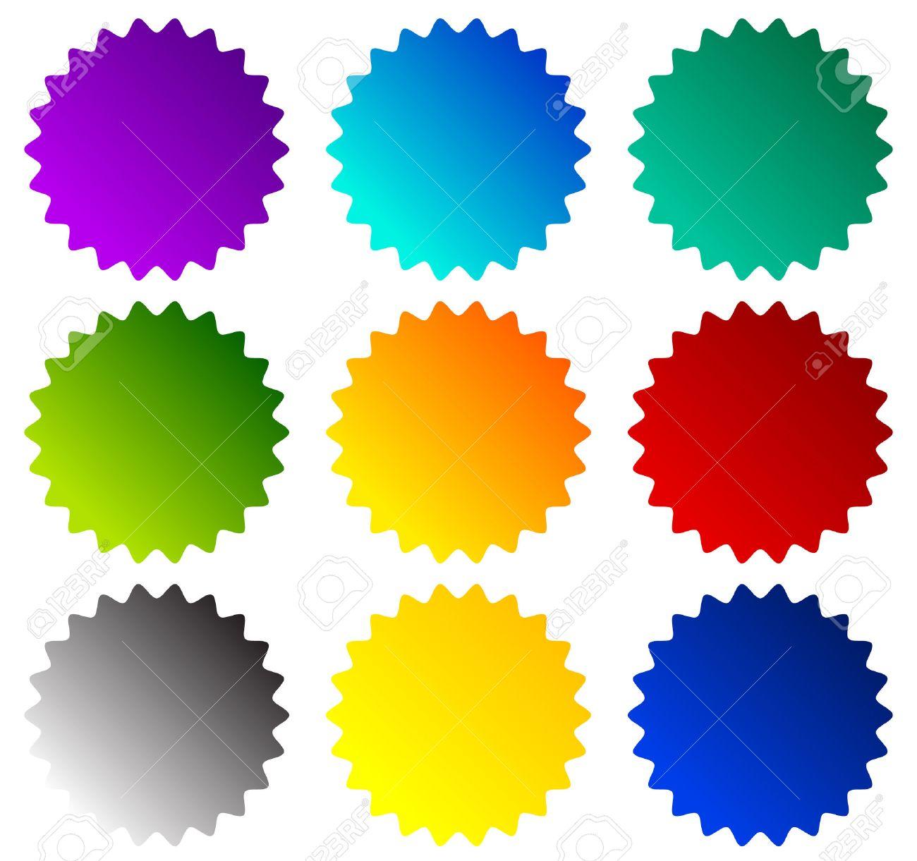 Badge, starburst, price flash shapes. Vector illustration. - 51225102