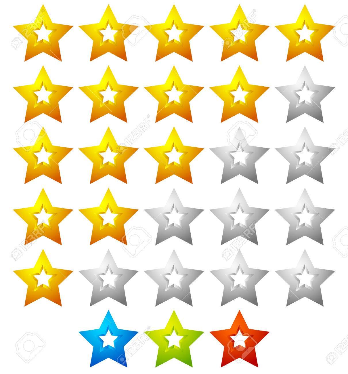 Sterne-Vorlage Mit 5 Sternen. Qualität, Produkt, Service Kritik ...