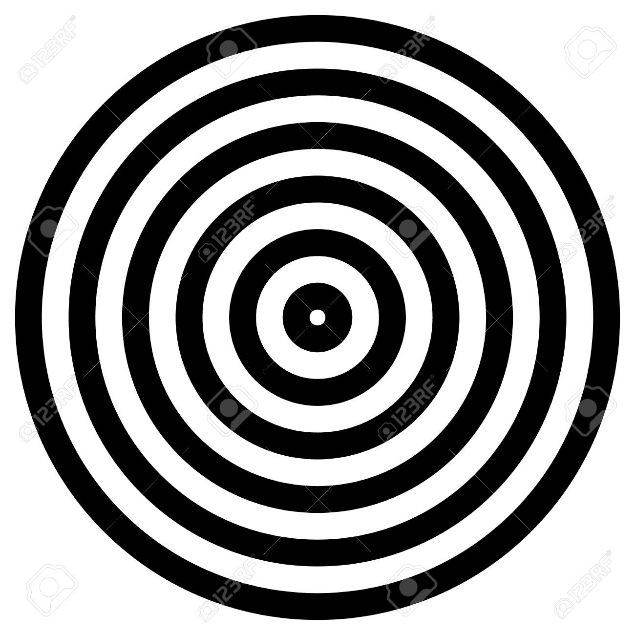 Simple concentric, radiating circle graphics isolated on white - 53764058