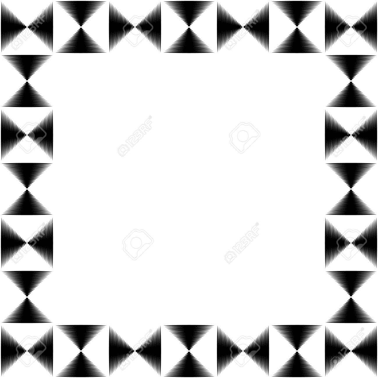 Quadrat-Format Foto, Bilderrahmen Mit Mosaik Von Linien ...