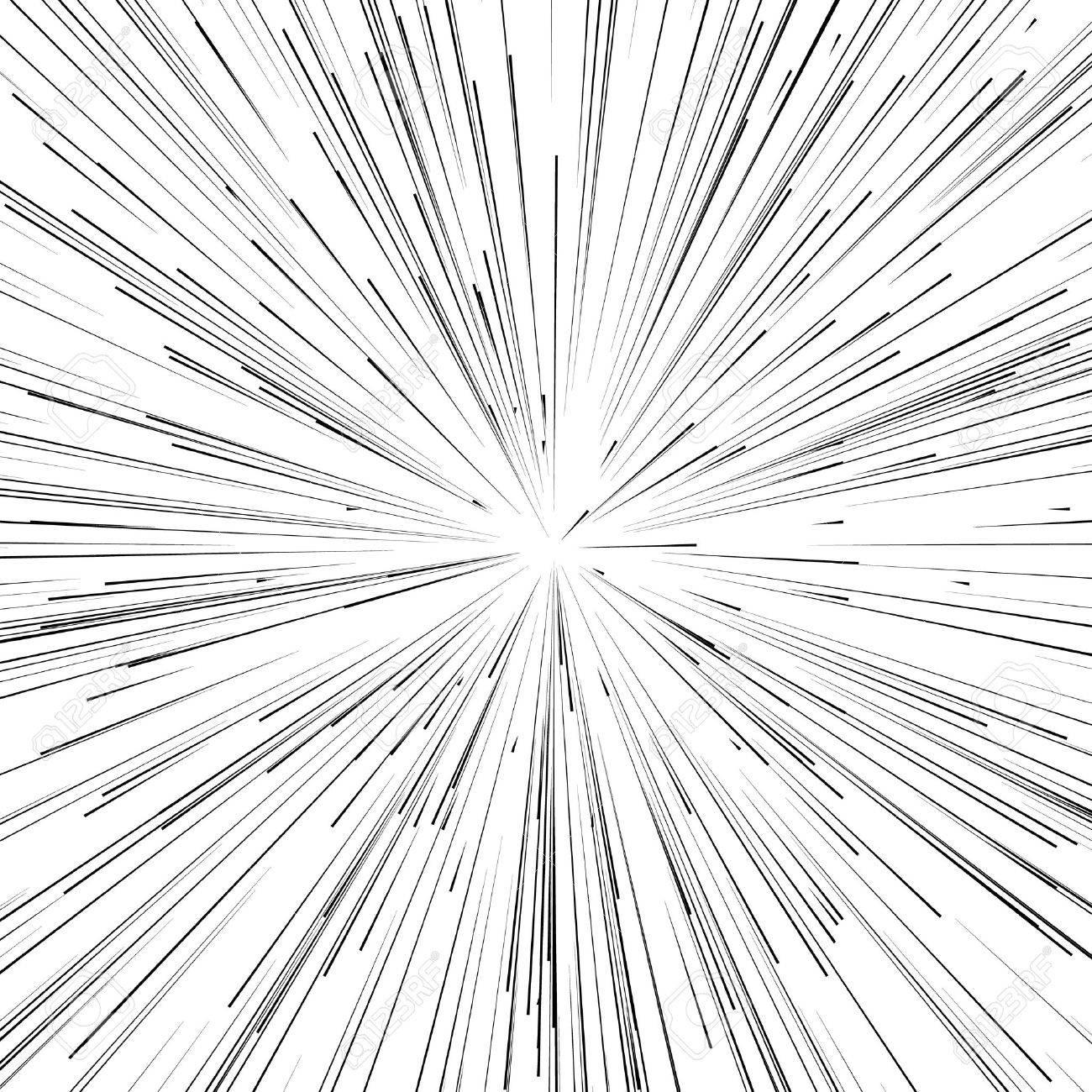 抽象的な爆発、バースト、光線、...