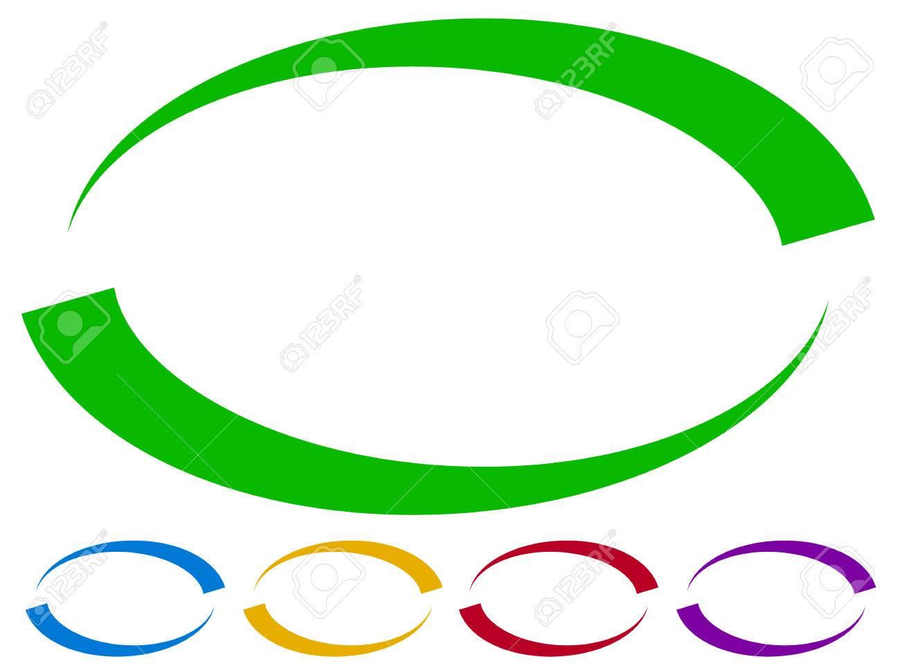 Marcos Ovalados - Fronteras En Cinco Colores. Elementos De Diseño ...