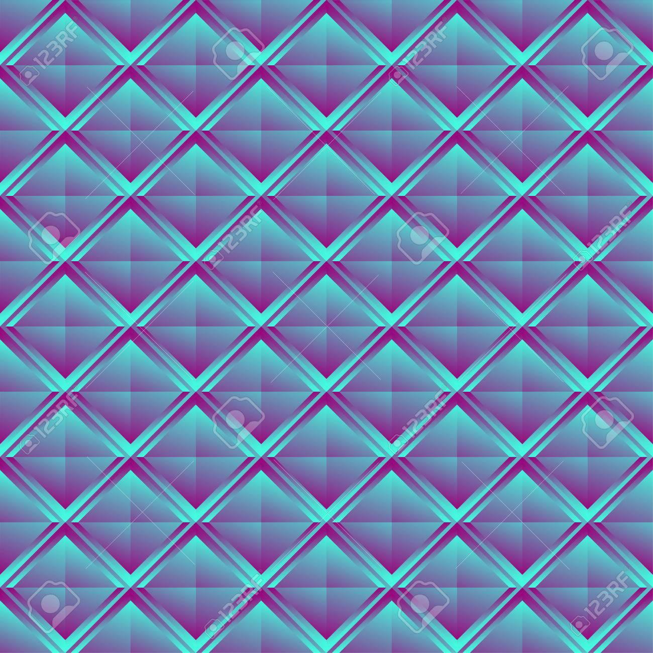 Patrón Repetible Con El Cristal Como La Estructura. Mosaico De Los ...