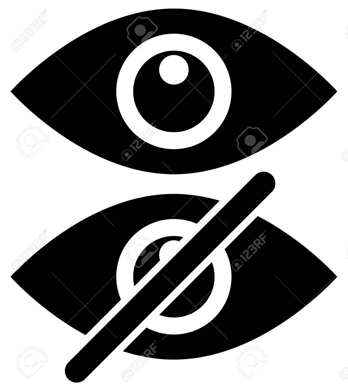 Eye Symbols As Show Hide Visible Invisible Public Private