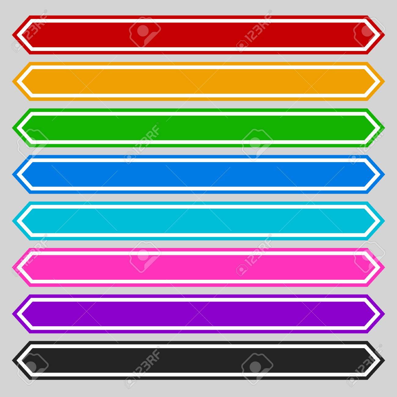 8 Botón Octogonal Del Color / Forma De La Bandera. Colorido Botón ...