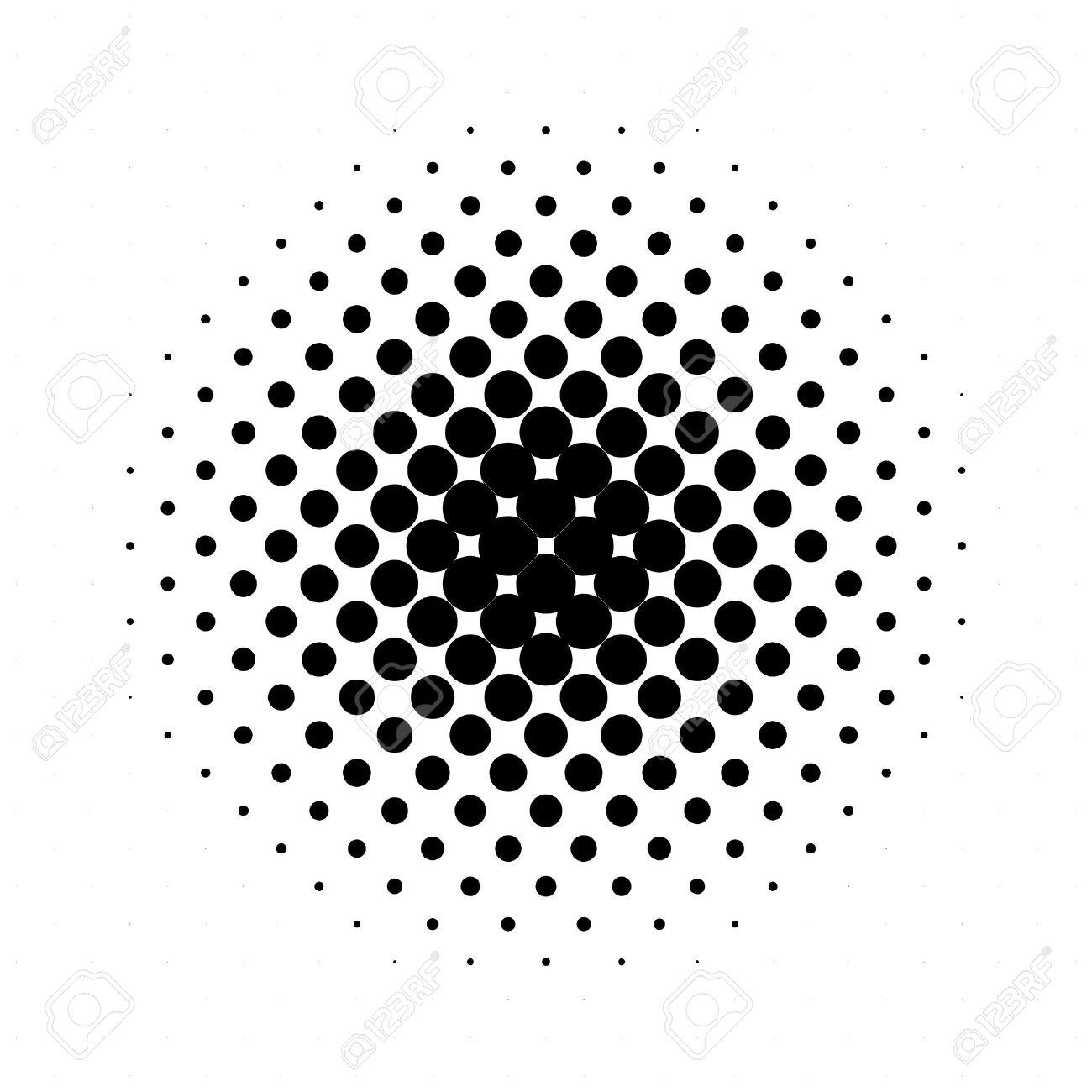circle halftone pattern texture monochrome halftone dots royalty rh 123rf com Scalloped Circle Clip Art Scalloped Circle Clip Art