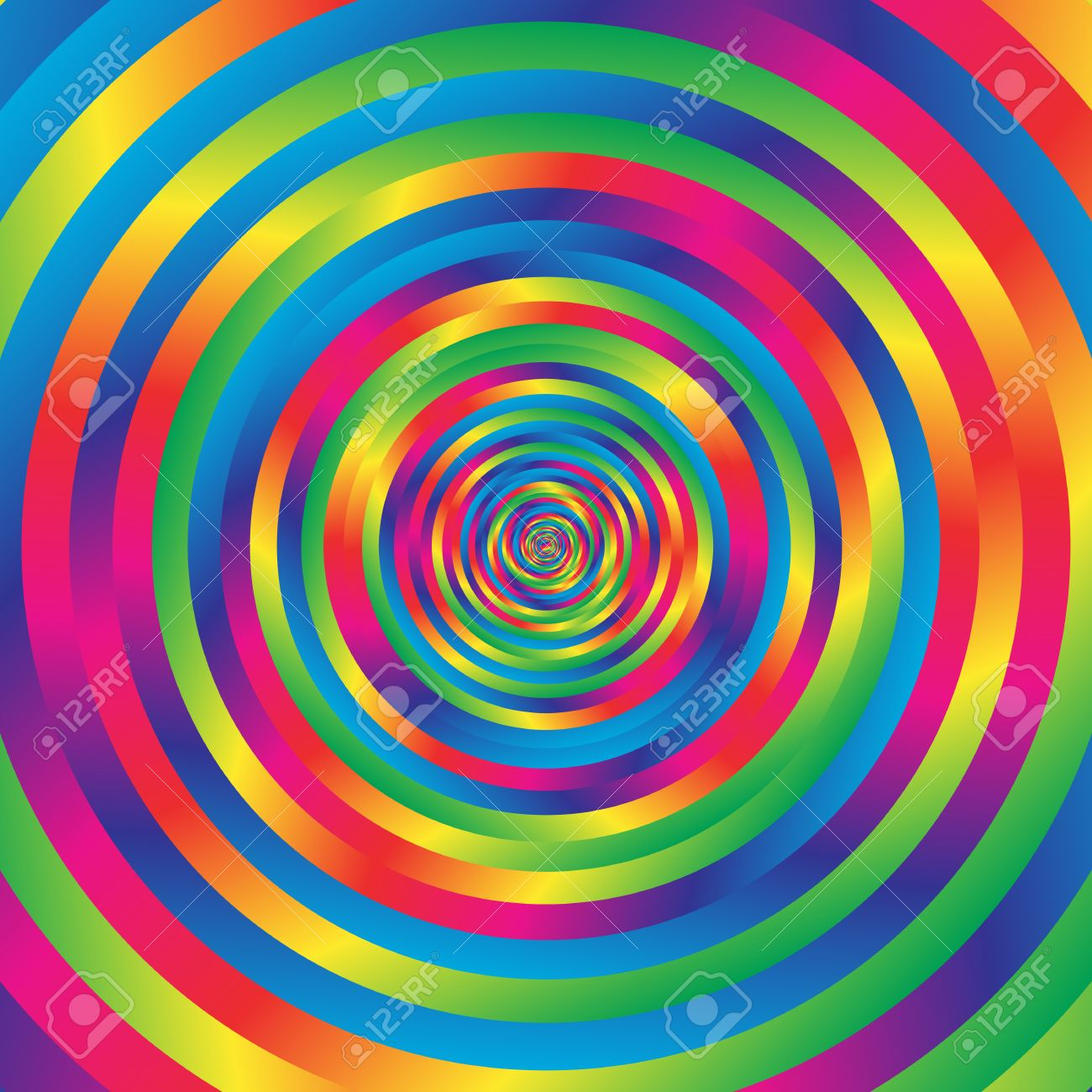 Colorful Hypnotic Spiral Circle. Swirl Looping Animation. Stock ...