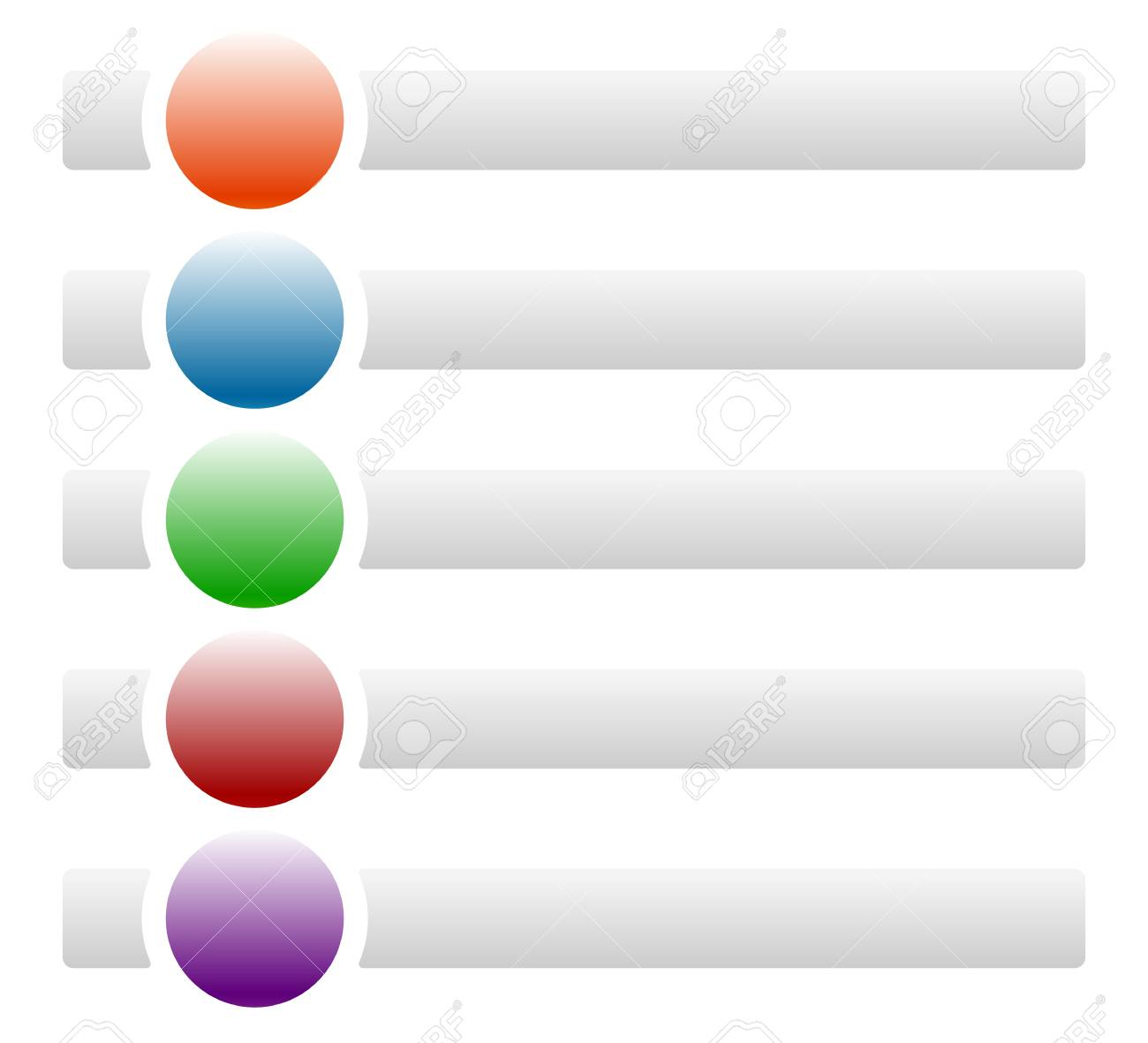 Banners Buttons With Circles For Messages With Symbols Icons