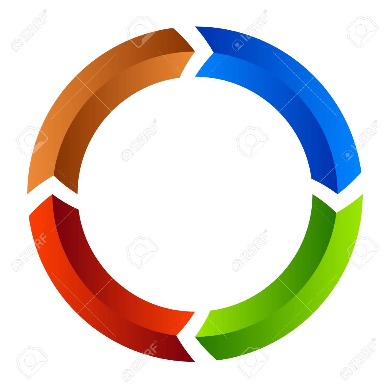 segmented circle arrow circular arrow icon process progres