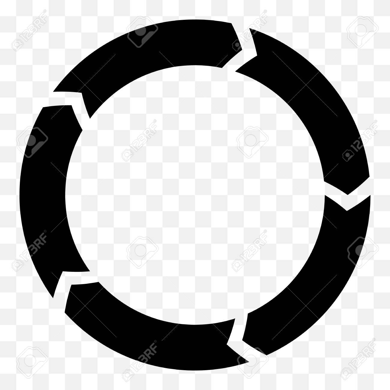 segmented circle arrow circular arrow icon process progres rh 123rf com circle arrow chart vector circle arrow chart vector