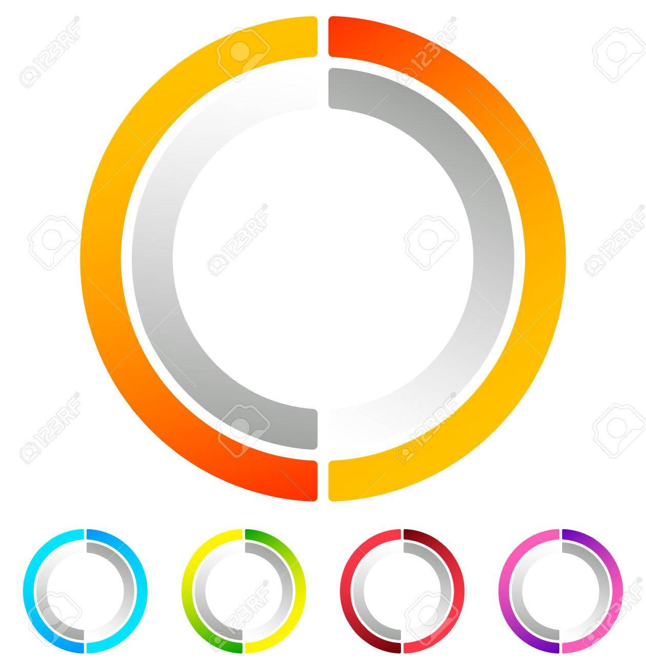 Segmented circle abstract icon circular geometric icon in segmented circle abstract icon circular geometric icon in 4 colors concentric circles pooptronica Choice Image