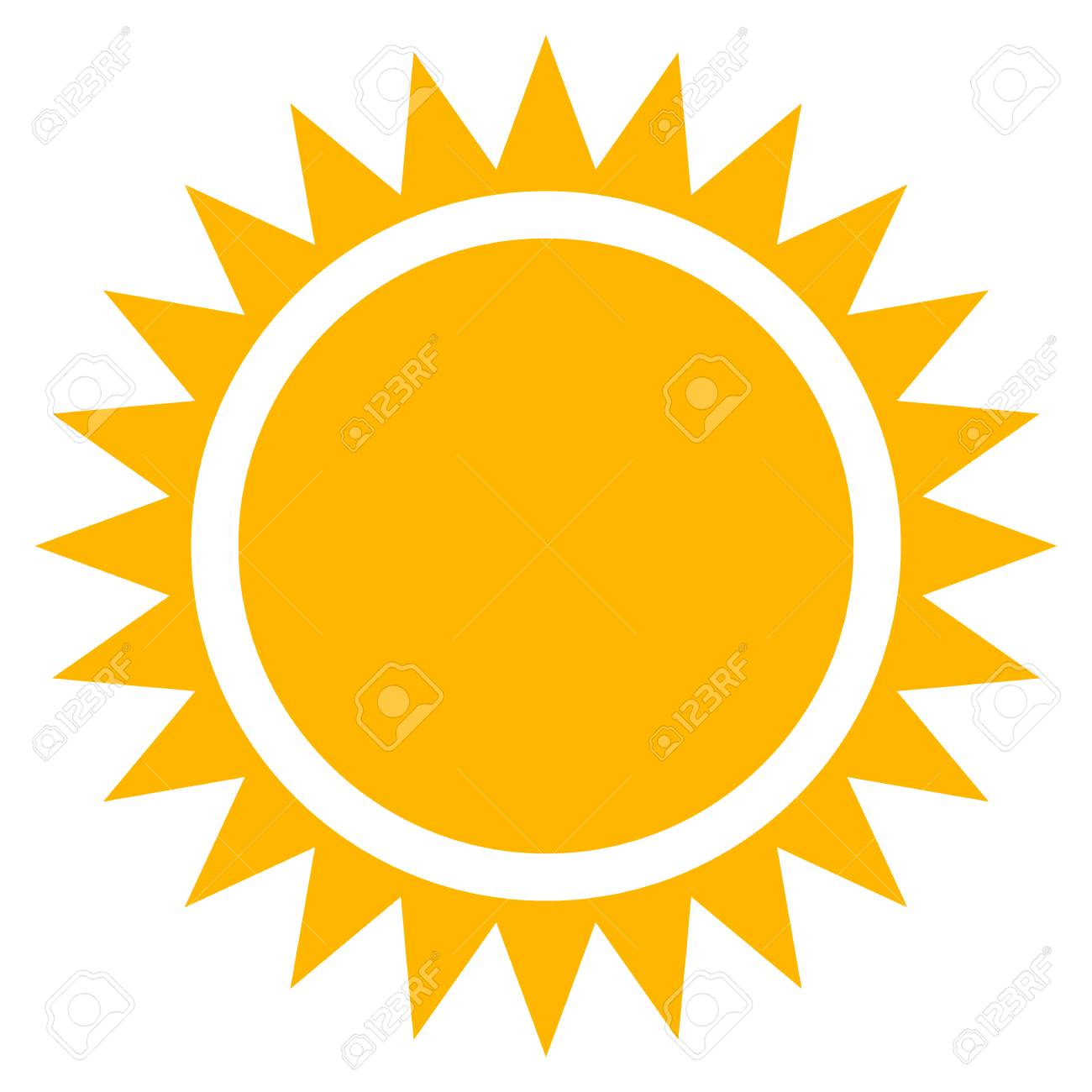 sun clip art flat sun icon with edgy rays royalty free cliparts rh 123rf com cute sun clipart vector House Clip Art Vector