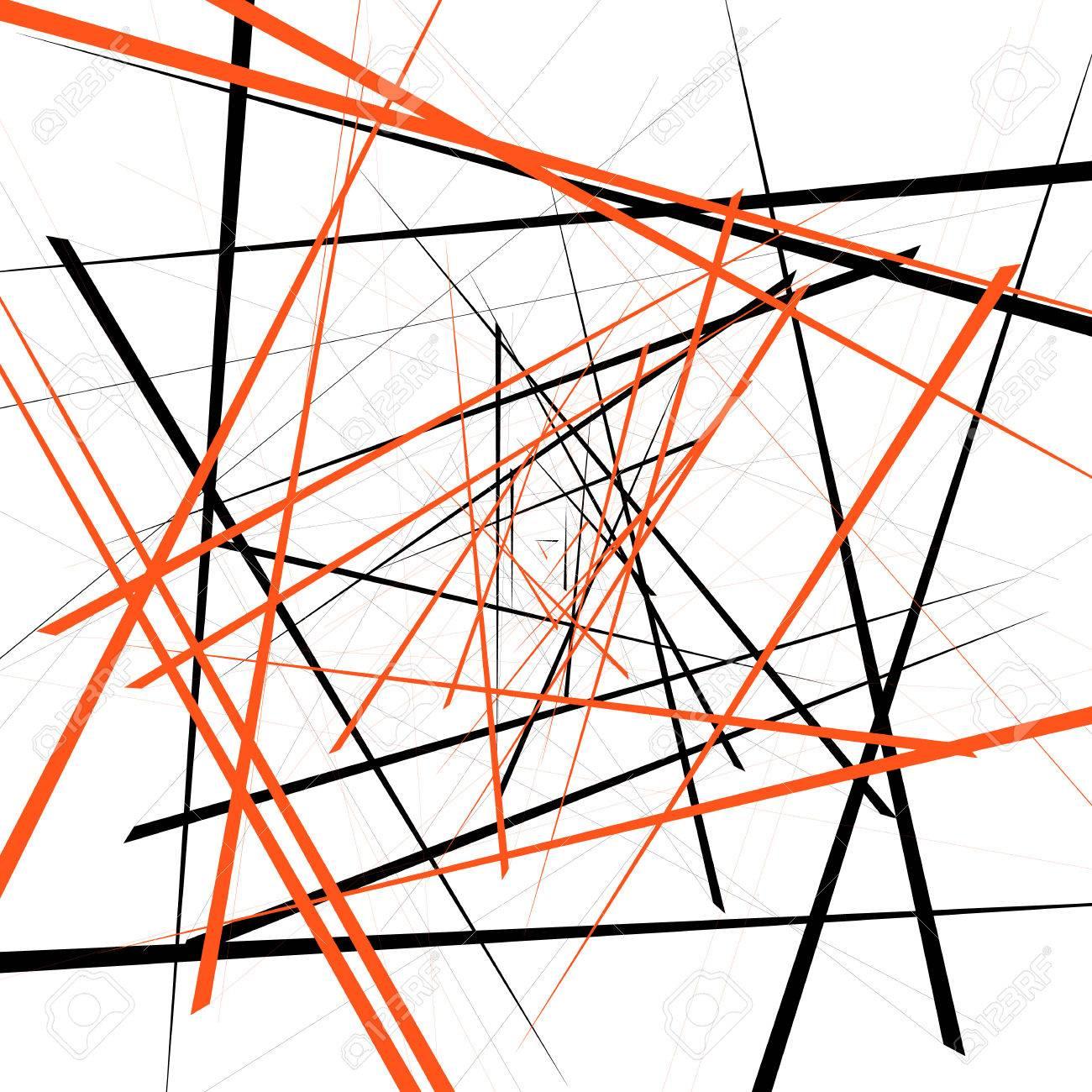 Geometric Illustration With Random Intersecting Lines Editable