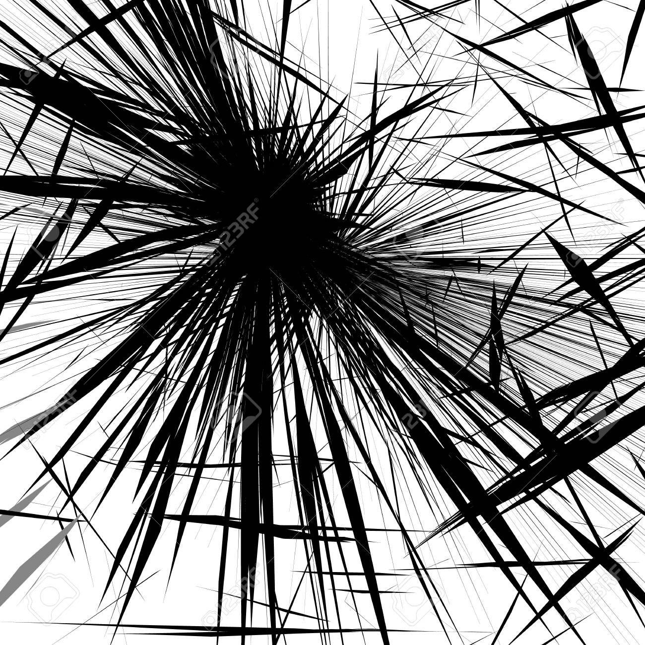 Rough edgy texture of random distorted shapes black and white