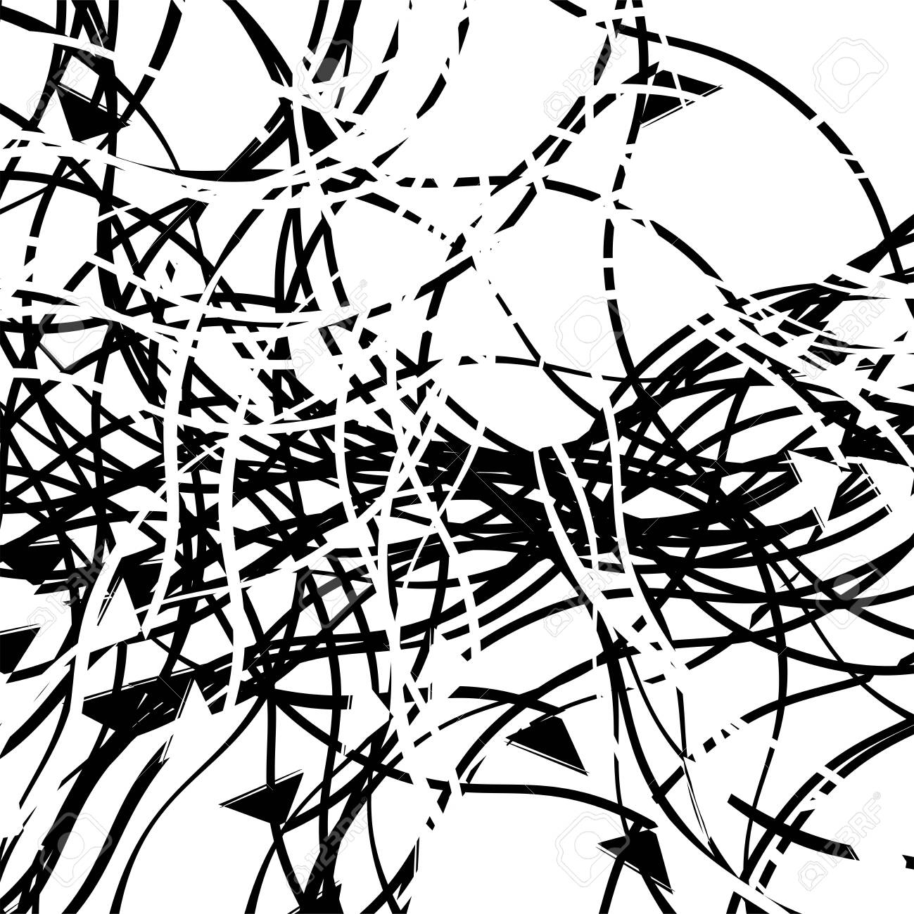 Abstract Art With Deformation Distortion Effect On Random Lines