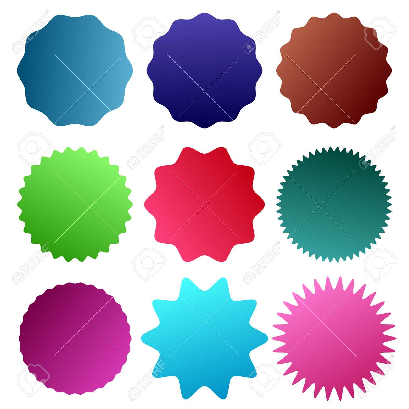 Badge, medal - Starburst, Sunburst Seal vector icon. Round, circle banner, Sticker or Vignette shape - Royalty free stock vector illustration, clip-art - 167445508