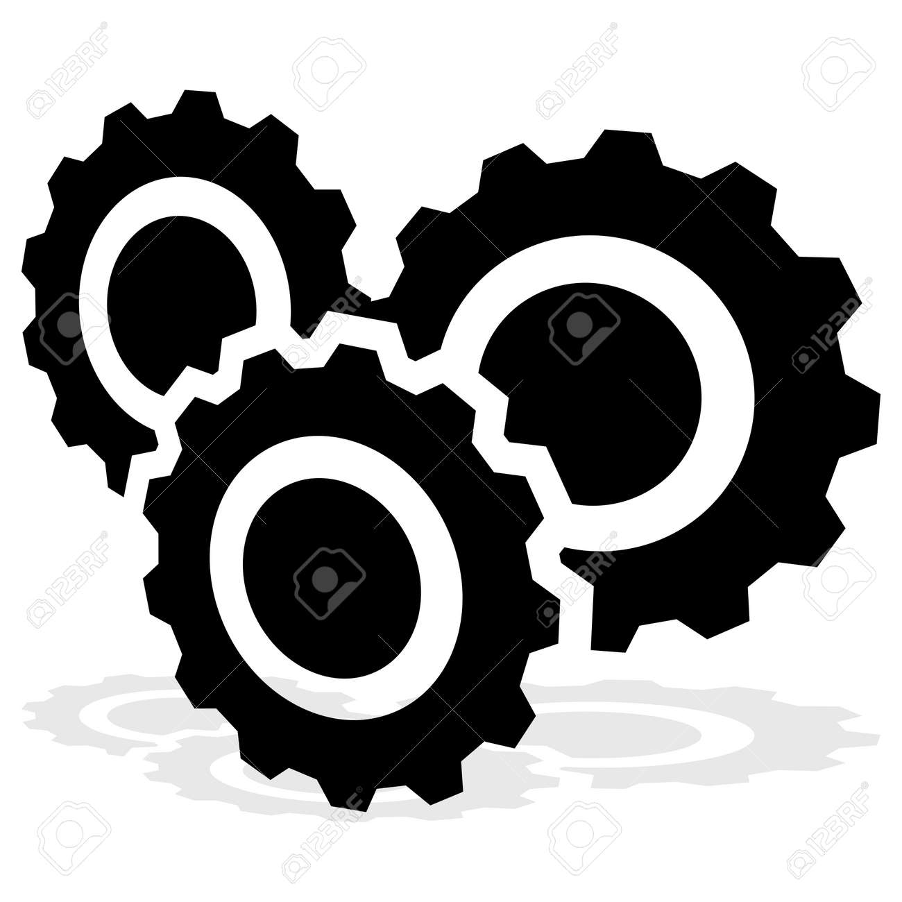 Gear, cogwheel, gearwheel icon, symbol and logo. Setup, customization, technical concept vector logo – Stock illustration, Clip-art graphics - 167486133