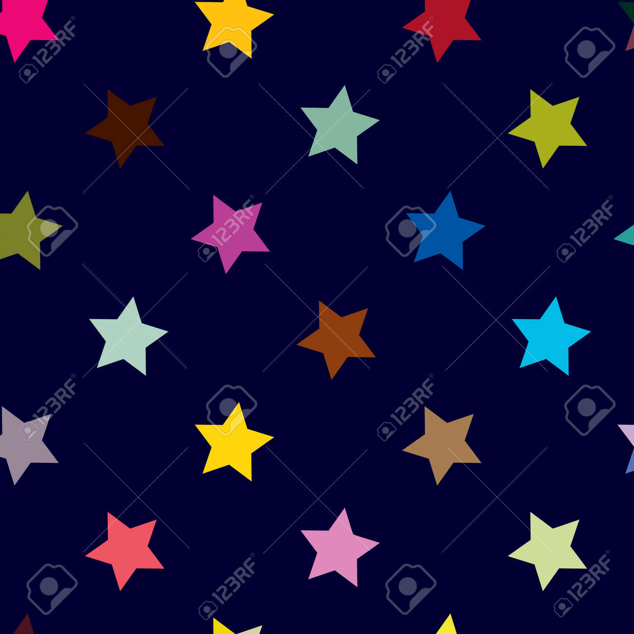Repeatable star background, star pattern. Seamless starry wrapping paper pattern. Vector illustration - 168465842