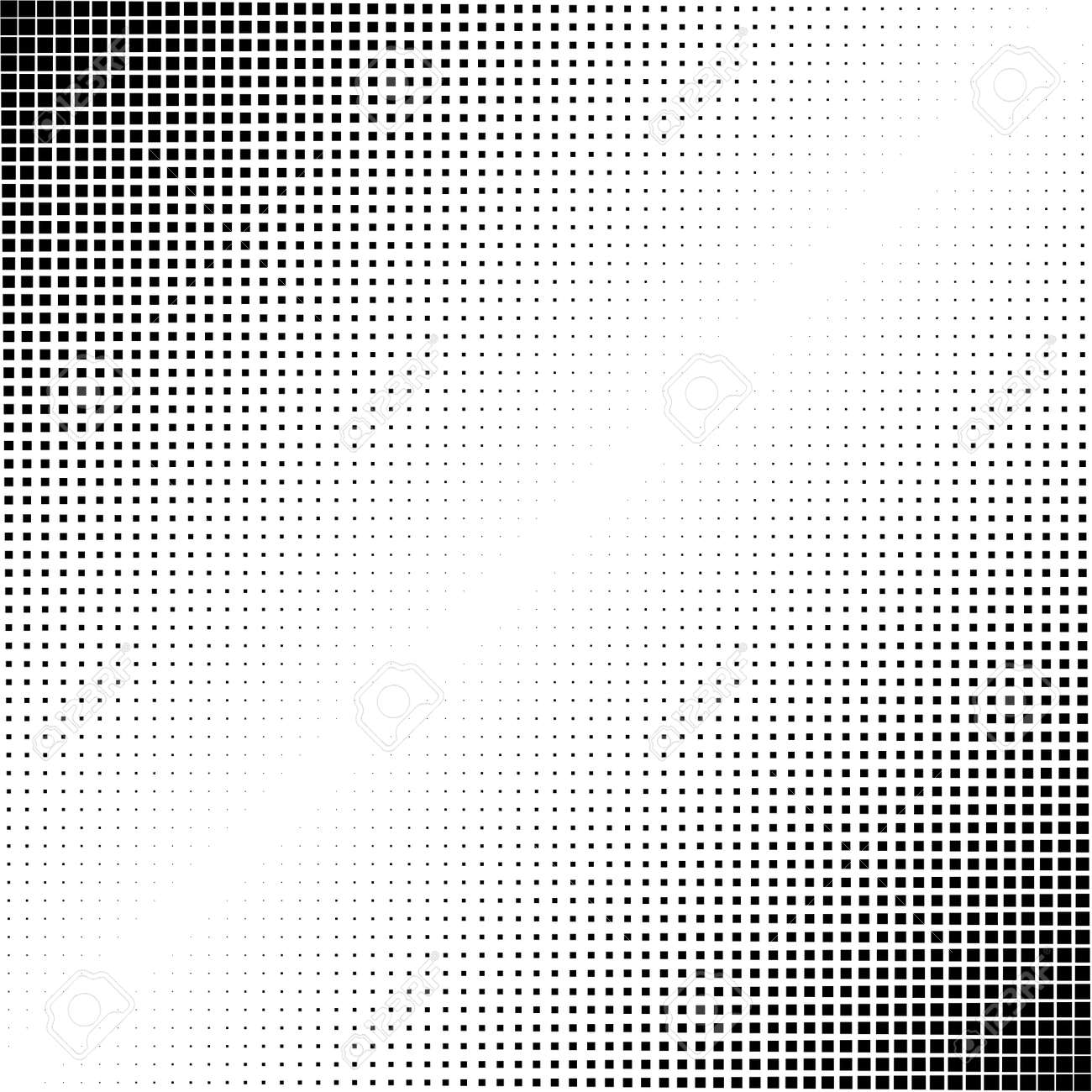 Squares halftone geometric background pattern and texture vector illustration - 167792902