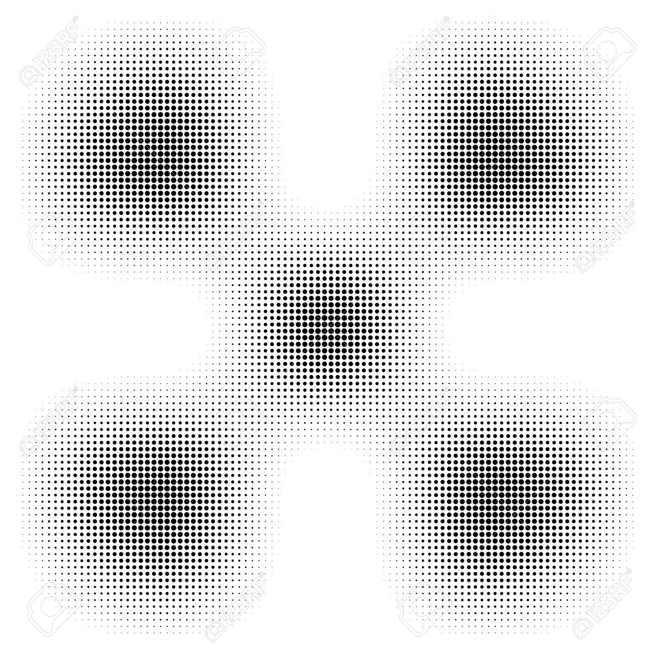 Circle halftone, screentone vector illustrations. Dots, dotted, speckles vector illustration - 167852428