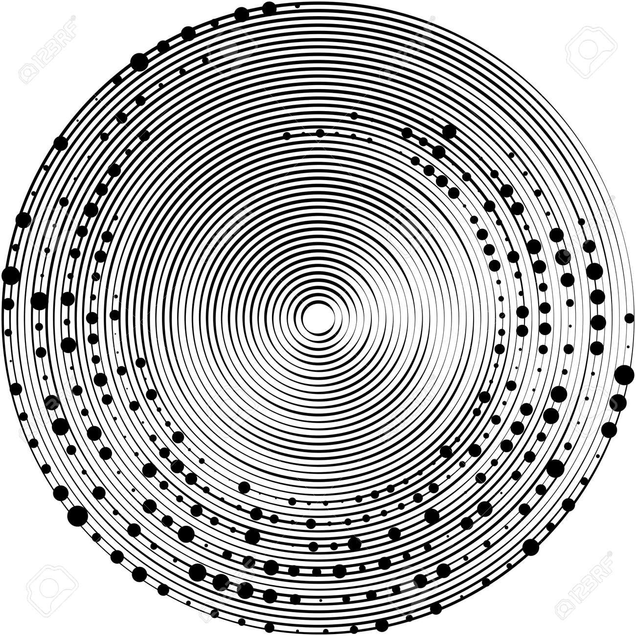 Overlaying abstract Spiral, Swirl, Twirl vector. Volute, helix, cochlear vertigo circular, geometric illustration. Abstract circle - 168027354