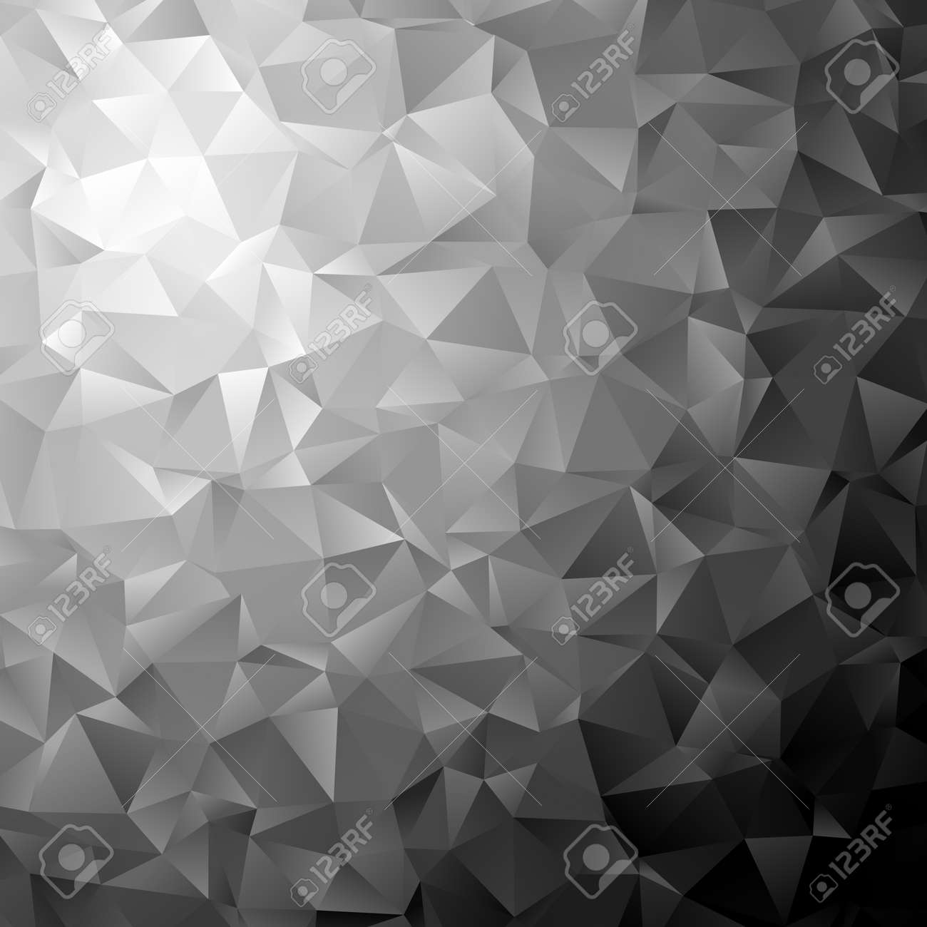 Low poly triangular, triangles vector background. Shatter, crumple effect. Chaotic glass pane - 165826812