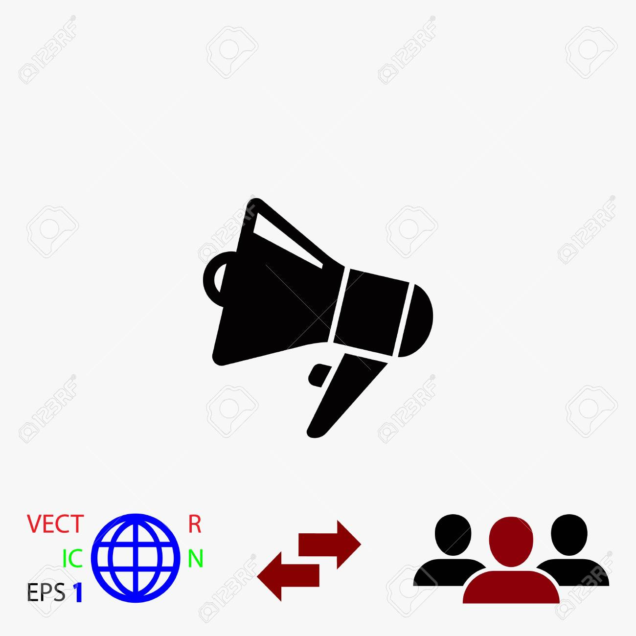 loudspeaker icon vector flat design best vector icon royalty free cliparts vectors and stock illustration image 82923650 123rf com