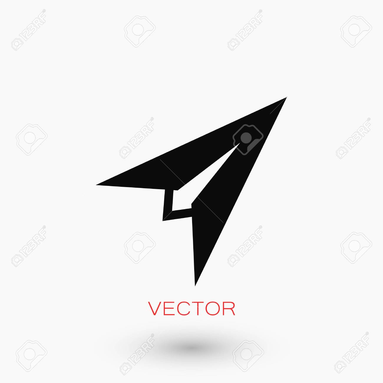 Plane Icon Vector Flat Design Best Vector Icon Royalty Free