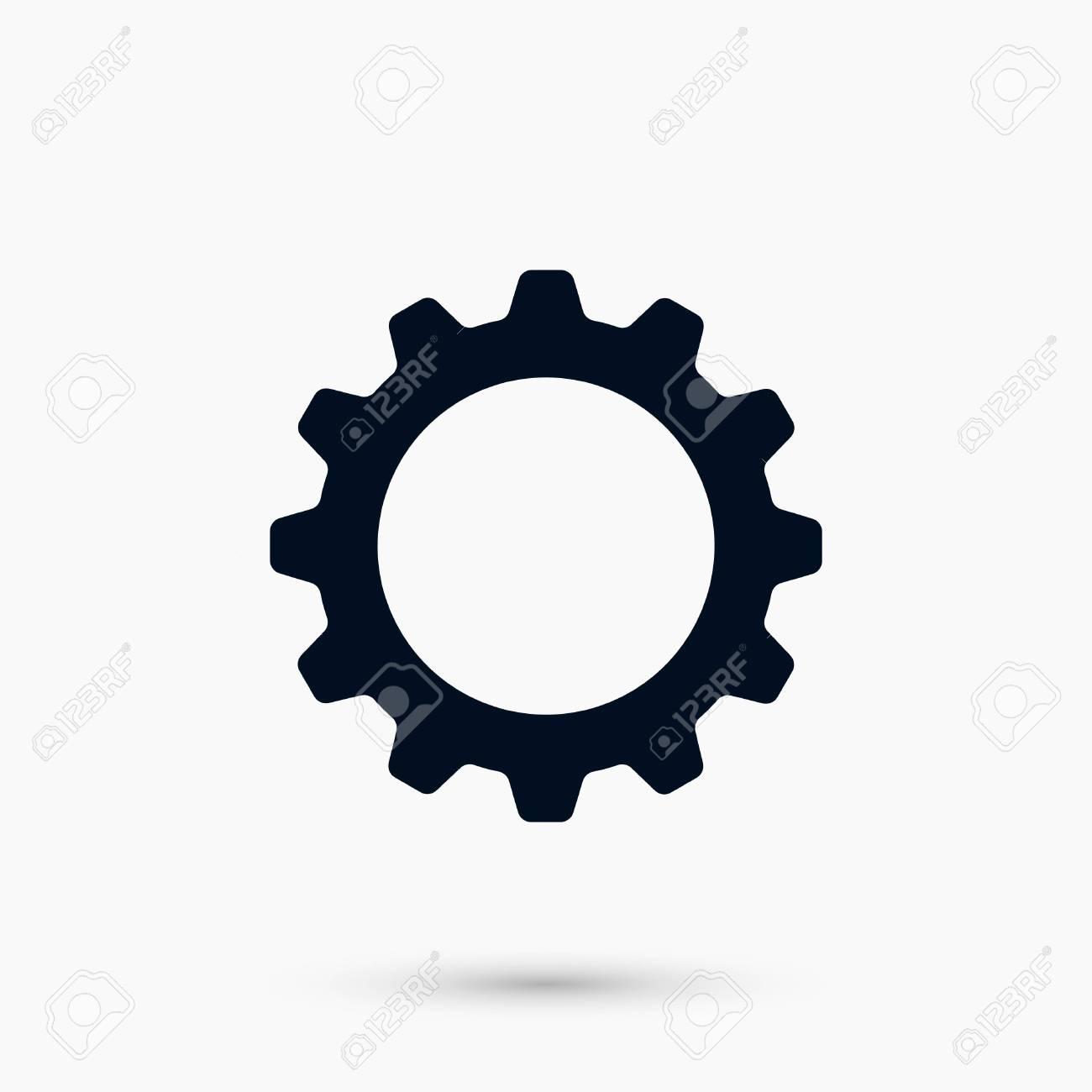 a gear icon vector flat design best vector icon royalty free rh 123rf com gear vector icon png gear shift icon vector