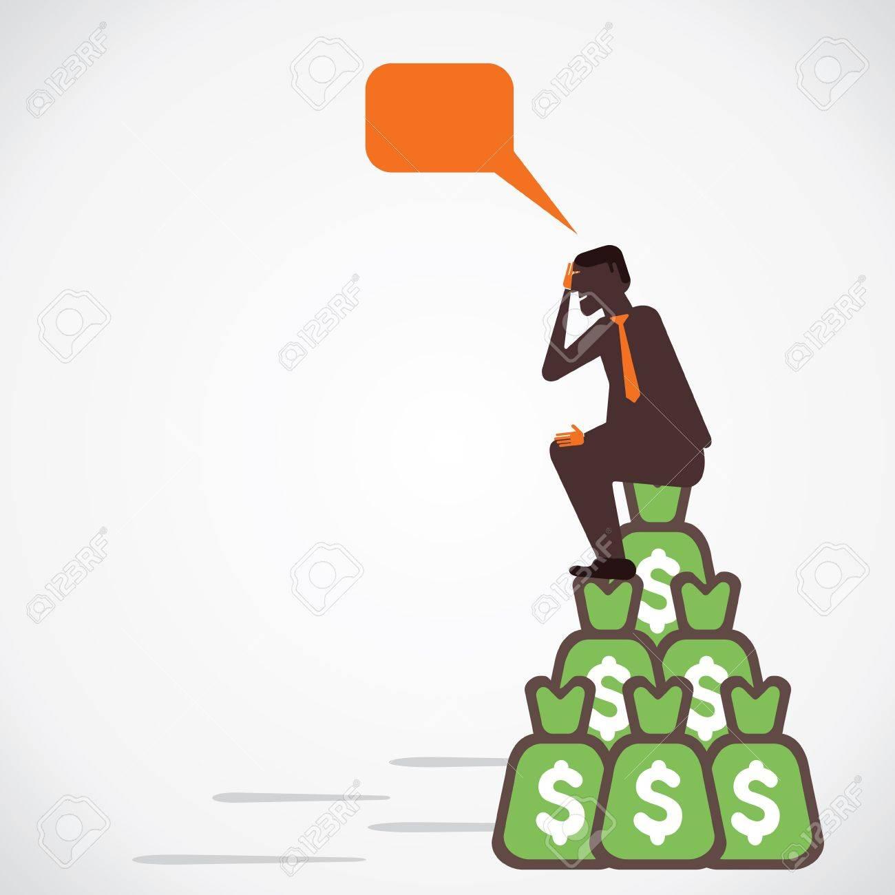 businessmen with lots of money vector Stock Vector - 21197294