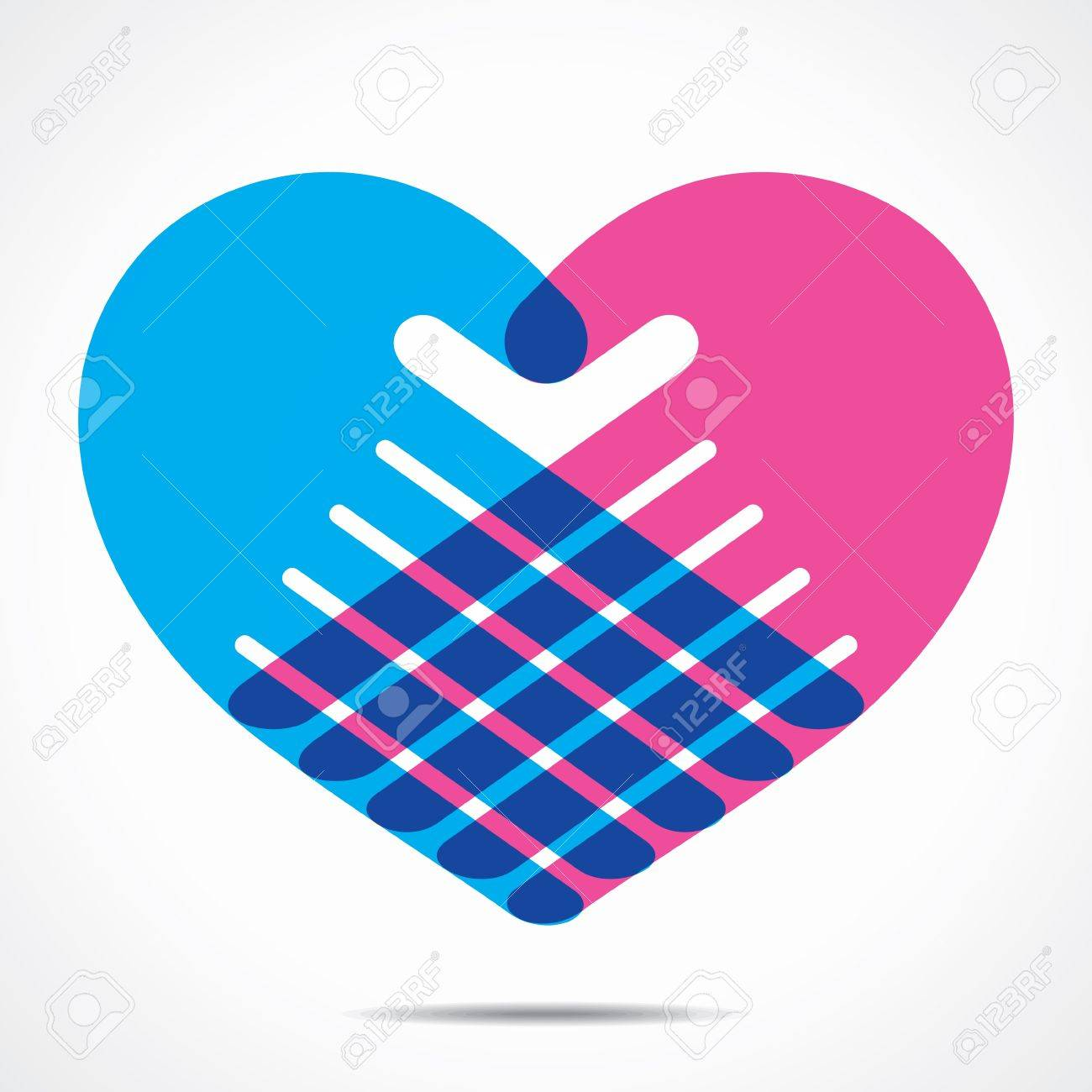 heart shape design for hand Stock Vector - 21694518