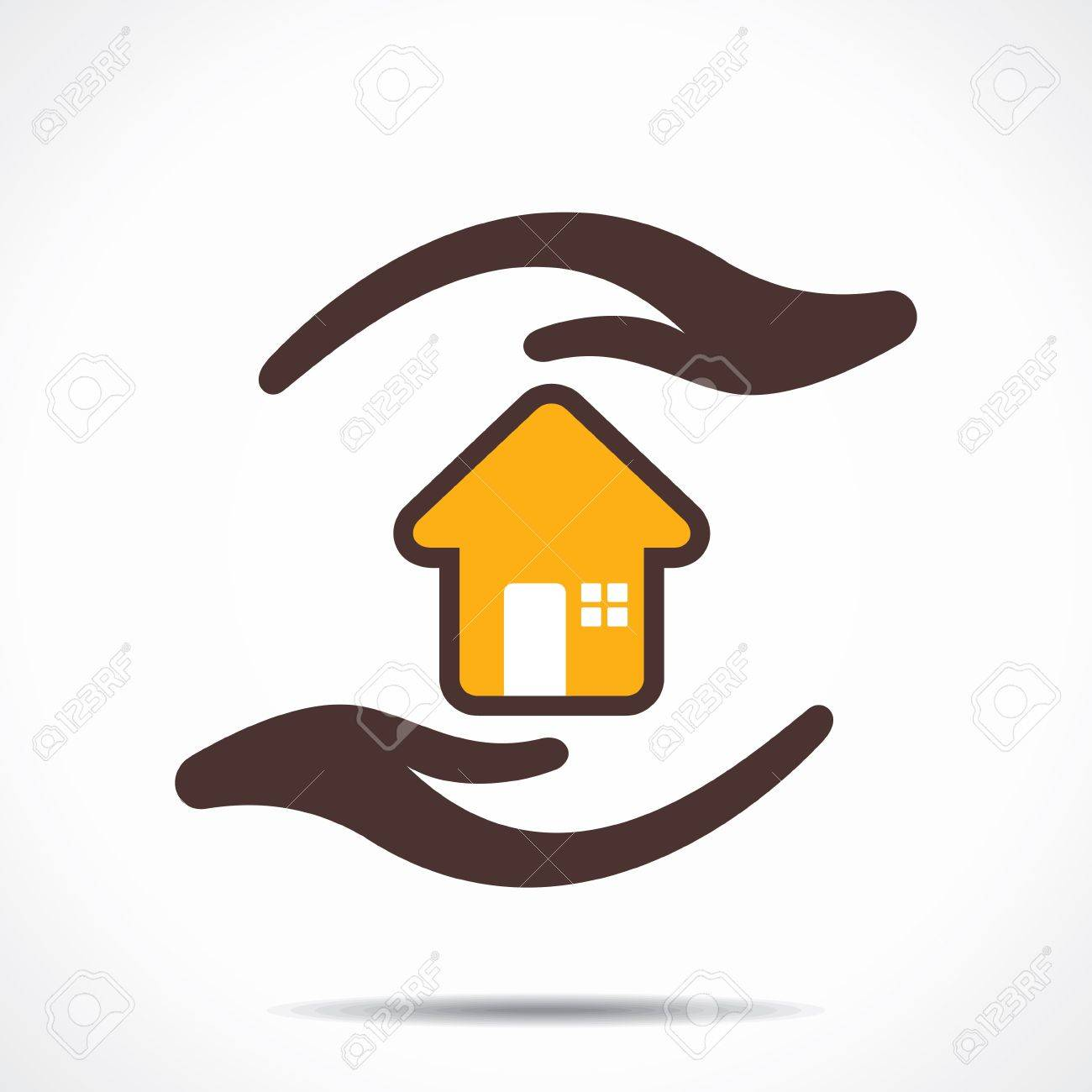 safe and secure home stock Stock Vector - 21695063