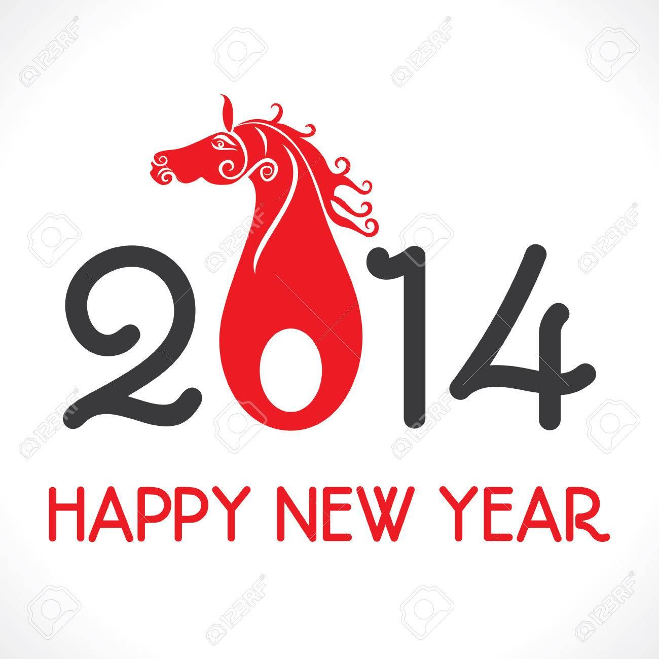 Frohes Neues Jahr 2014 Gruß Hintergrund Vektor Lizenzfrei Nutzbare ...