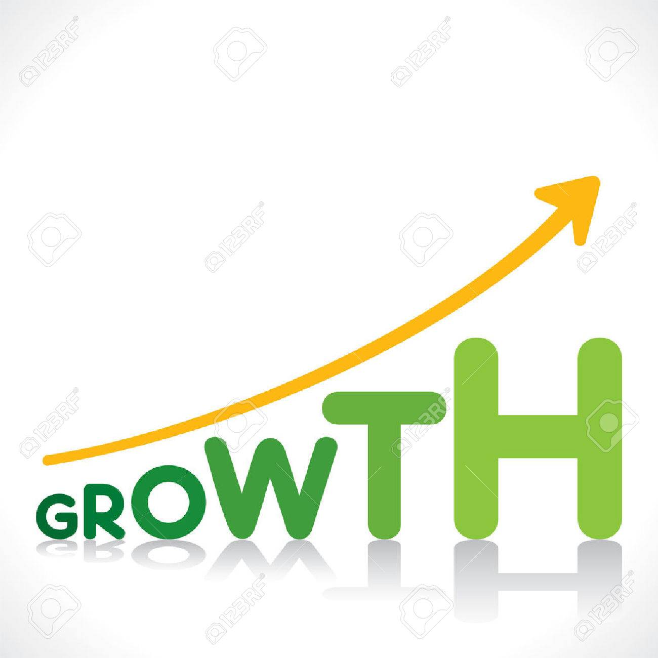 Creative Business Growth Graphics Design With Growth Word Design Concept Stock Vector 28911988