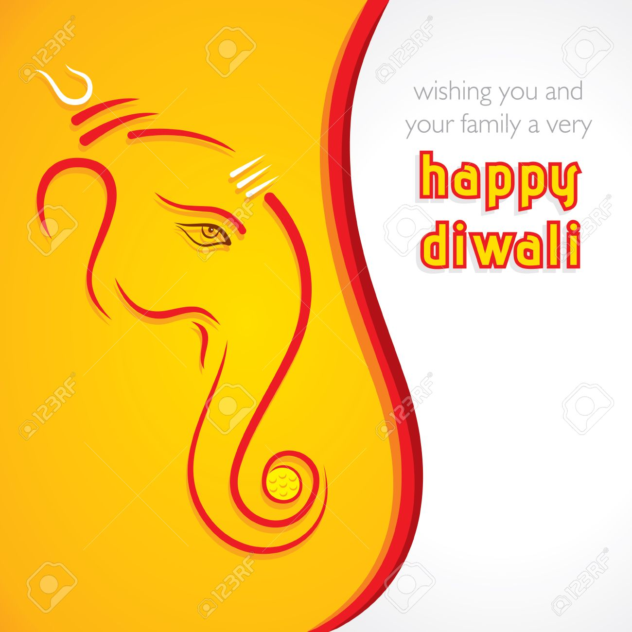 Creative Happy Diwali Greeting Card Background Vector Royalty Free