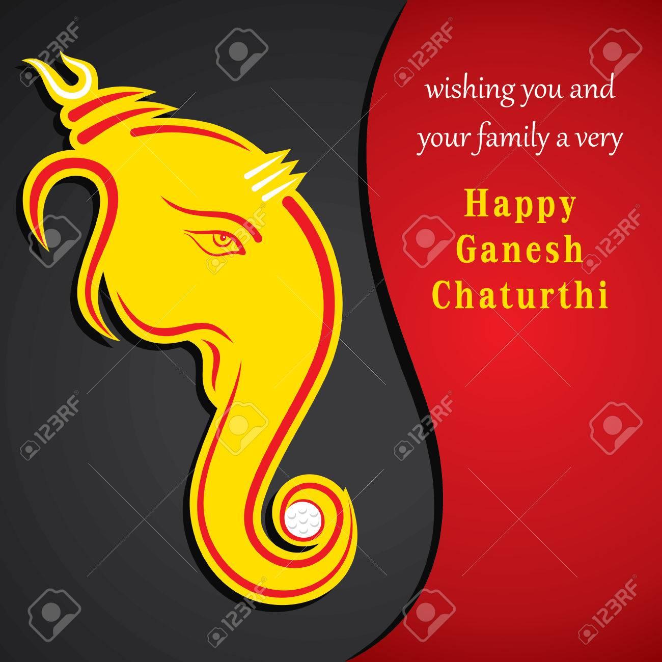 Creative ganesh chaturthi festival greeting card background vector creative ganesh chaturthi festival greeting card background vector stock vector 31510296 m4hsunfo
