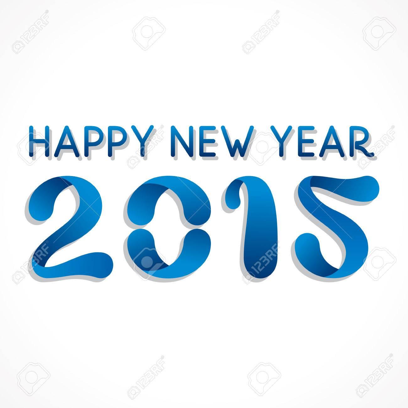 Frohes Neues Jahr Gruß 2015 Vektorgrafik Lizenzfrei Nutzbare ...