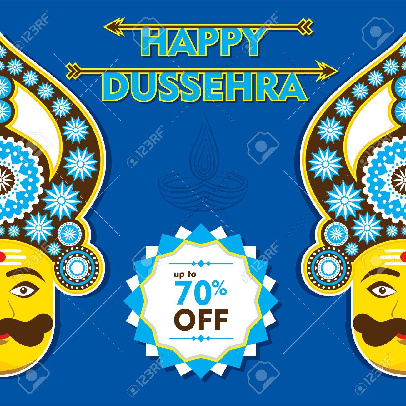 Happy dussehra banner or greeting design vector royalty free happy dussehra banner or greeting design vector stock vector 46135209 kristyandbryce Images