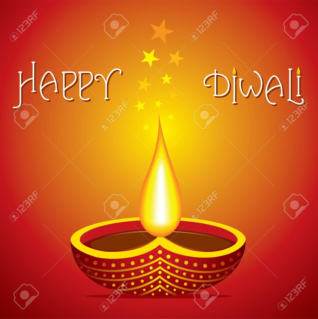 Happy Diwali Poster Or Greeting Design Vector Royalty Free Cliparts