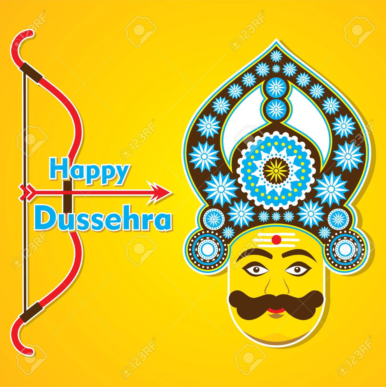 Happy dussehra greeting card design vector royalty free cliparts happy dussehra greeting card design vector stock vector 46135217 m4hsunfo