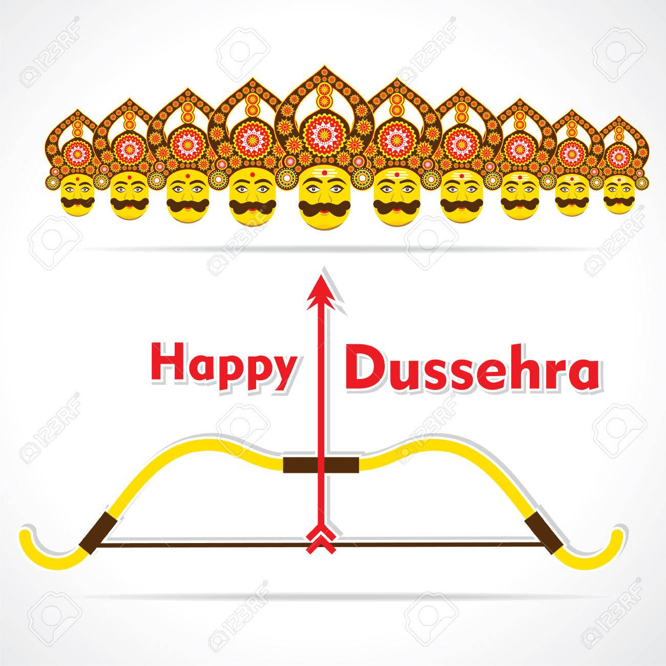 Happy dussehra greeting card design vector royalty free cliparts happy dussehra greeting card design vector stock vector 46135215 m4hsunfo