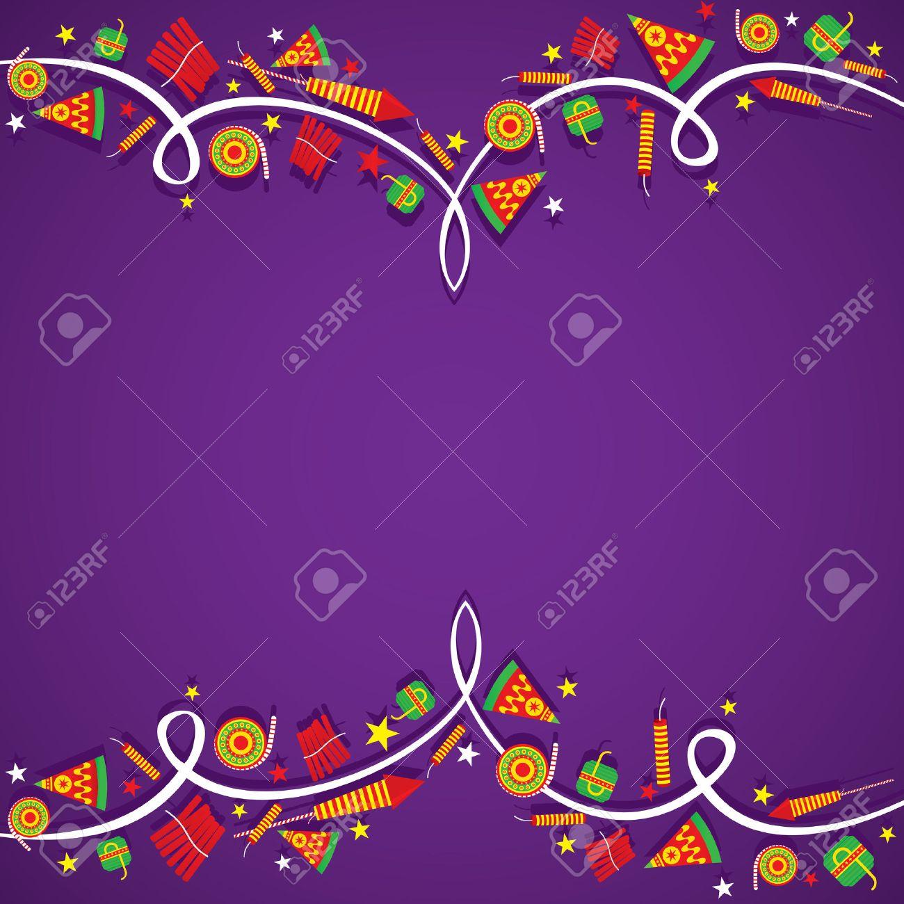 Creative Big Cracker Banner Border Design , Happy Diwali Vector Stock  Vector   47040004