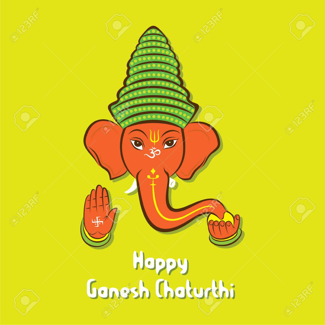 Happy ganesh chaturthi festival greeting card or poster design happy ganesh chaturthi festival greeting card or poster design vector stock vector 60699685 m4hsunfo