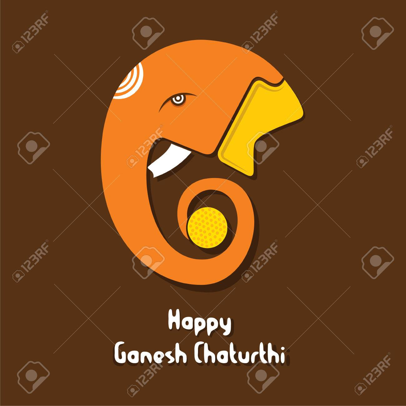 Ganesha chaturthi festival greeting card design vector royalty free ganesha chaturthi festival greeting card design vector stock vector 60699720 m4hsunfo