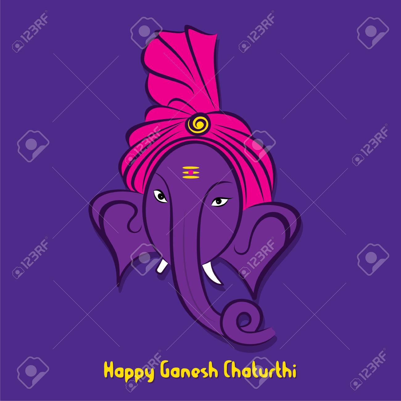 Creative happy ganesha chaturthi festival greeting card or banner creative happy ganesha chaturthi festival greeting card or banner design vector stock vector 60699725 m4hsunfo