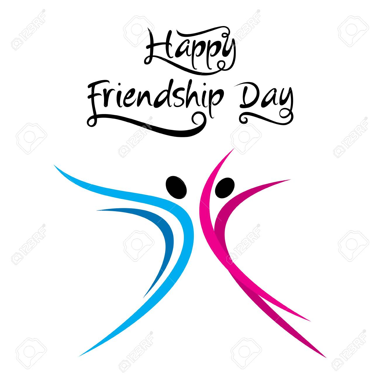 Happy Friendship Day Poster Design Stock Vector