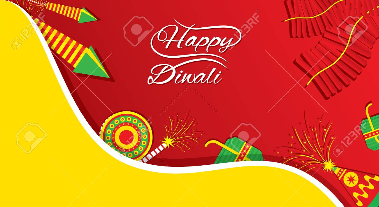A Beautiful Greeting Card With Decorated With Cracker Indian