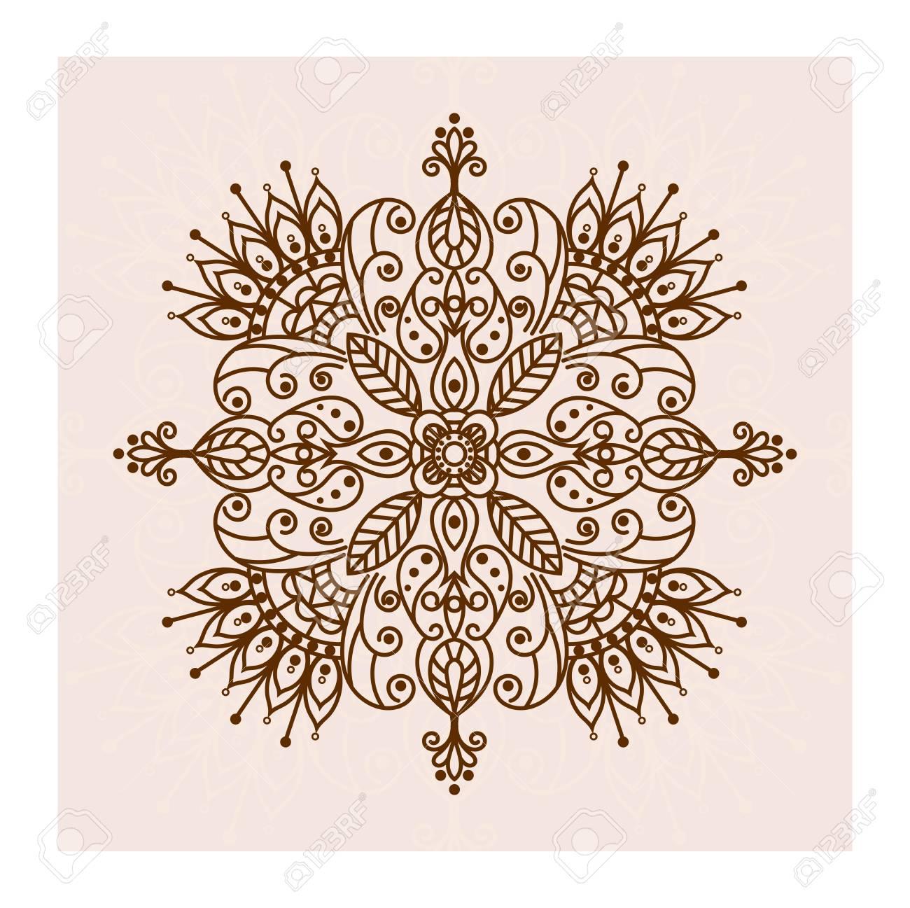 Mandala Henna Flower Ethnic Lace Ornamental Pattern Can Be