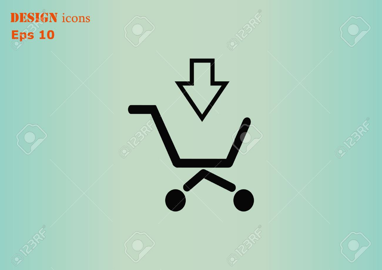 office trolley cart. Shopping Trolley, Cart Icon, On Line Sale Icon Stock Vector - 56325244 Office Trolley